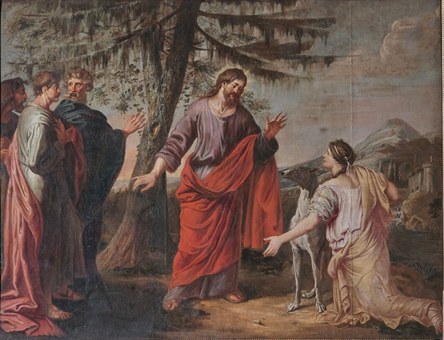 Michael_Angelo_Immenraet_-_Jesus_and_the_Woman_of_Canaan